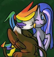 Feather's Midnight Kiss by fauxsquared by Q99
