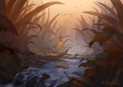 Autumn Stream by Zanariya