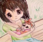Rosa and baby by greyroseflight