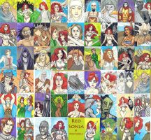 Red Sonja Cards by Sukeile