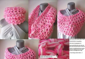 Chunky Uber Cowl in Pink by ambiguousginger