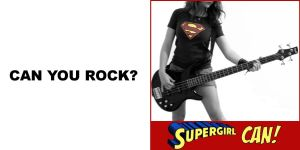 Supergirl Can Rock by pastorgavin