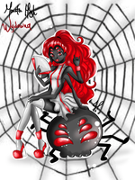 monster high wydowna spider Red rock by JamilSC11