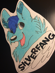 Silverfang Wolf - Copic Badge by ForeverNika