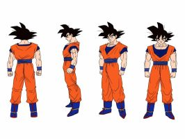 18 Lineart - Goku COLORED by delvallejoel
