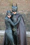 Batman and Catwoman at Lucca07 by LarsVanDrake