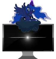 Luna Monitor off Utility Icon by SoulDragonWithFlow