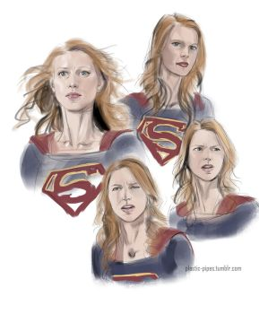 Supergirl Sketches by plastic-pipes