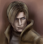 RE4 Leon by Moody-Ferret