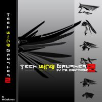 Tech Wing Brushes2 by MrDraftsman