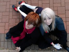 Shu , Gay, Tsugumi - Guilty Crown by psycomeh