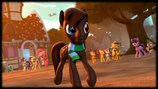 Gameie in Ponyville by Project-88