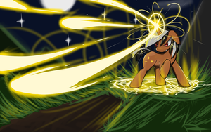 COMMISSION: Star Sparkler's Attack by ACharmingPony