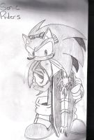 sonic with board by Callihanclan
