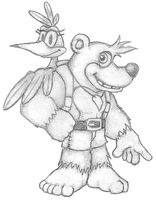 Banjo and Kazooie by koopaul