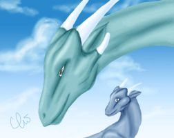 The Sky is There with Dragons by harimauputeh