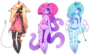 Adoptables Batch 20: 1/3 OPEN by Zombutts