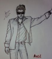 My anime type frnd sketch by nairarun15