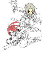 Haseo and Alkaid -preview- by Organization13freak