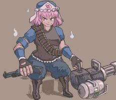 Heavy Weapons Yuyuko by ProfitShame