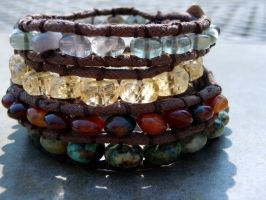 Stone Pathways Bracelets by BOXCJewelry