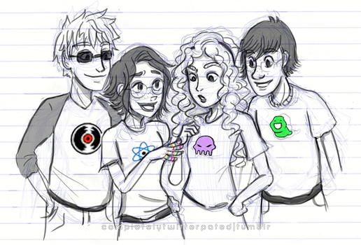 The Big Four as the Beta Kids 2 by justixoxo