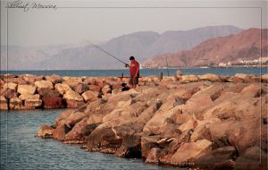 Fisherman at Eilat by ShlomitMessica
