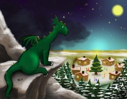 Alone for the Holidays by RisingDragonArt