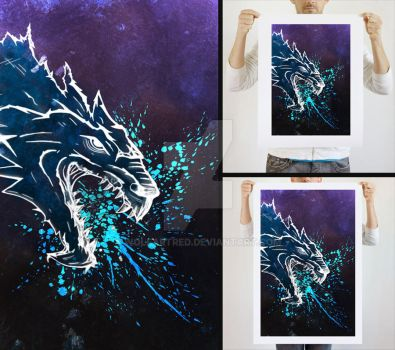 Dragon Scale - Art Print Mystic Edition by wolfartred