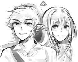 Valentine's Day Zelda and Link by Arcky-Cano