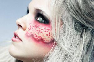 Exotic Red Lace makeup by ArtfulParadox