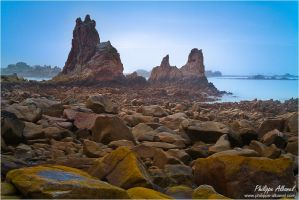 Indented Rocks - Plougrescant by Philippe-Albanel