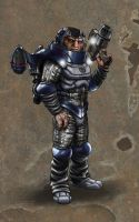 Sontaran Stealth Trooper by DarkAngelDTB
