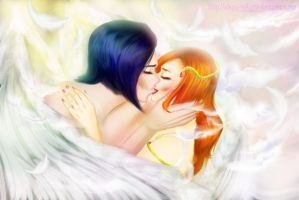 Angelic embrace-IshiOri by Abyss-Valkyrie