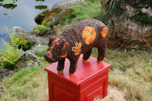 epcot china pig statue by katiezstock