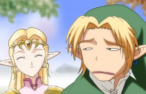 Link and Zelda by TheEclipse