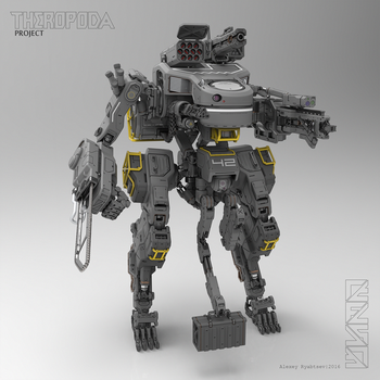 THEROPODA (render) by HYDROGEARS