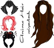 Anime Style Hair Pack by seiyastock