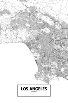 Los Angeles, California (black on white) by rougeux
