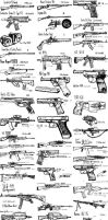 dA Gun Drawings Compilation by CrazyDave55811