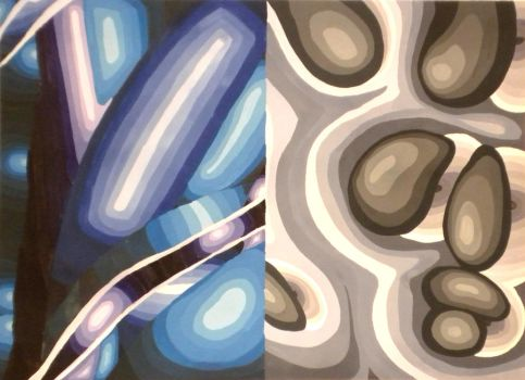 Abstract in Color - Grayscale by DC-Art-Therapist