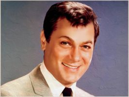 Tony Curtis-Digital Painting by chamirra