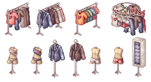 Clothes Shop NPCs by AtskaHeart