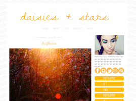 Daisies and Stars Blogger Template by candypow