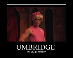 Umbridge Motivational Poster by VogueNinja