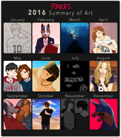 2016 Summary of Art by ponica88