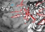 Anime Digi Paint: Lord Rama vs Demon King Ravana by nairarun15
