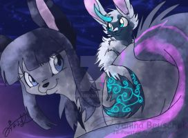 Midnight and Topaz by JB-Pawstep