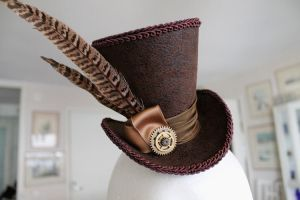 Lady Hunter Mini Wonky Top Hat by ImperialFiddlesticks