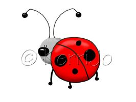 Cartoon Ladybug by Kerri--Jo